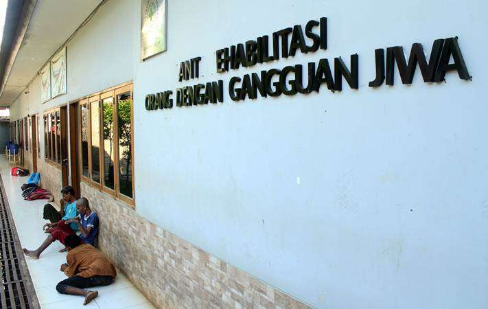 Sejumlah orang penyandang disabilitas mental berada di Panti Rehabilitasi Yayasan Galuh, Bekasi, Jawa Barat, Kamis (7/2/2019). - ANTARA/Risky Andrianto