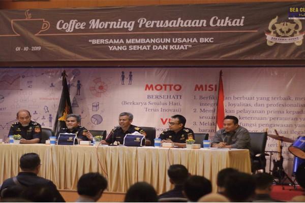Dukung Industri Dalam Negeri, Bea Cukai Bogor Adakan 'Coffee Morning' bersama Para Pengusaha di Bidang Cukai