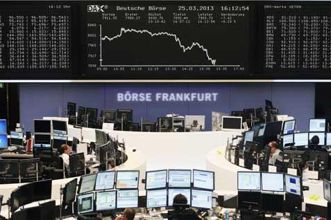 Bursa Eropa. Ilustrasi