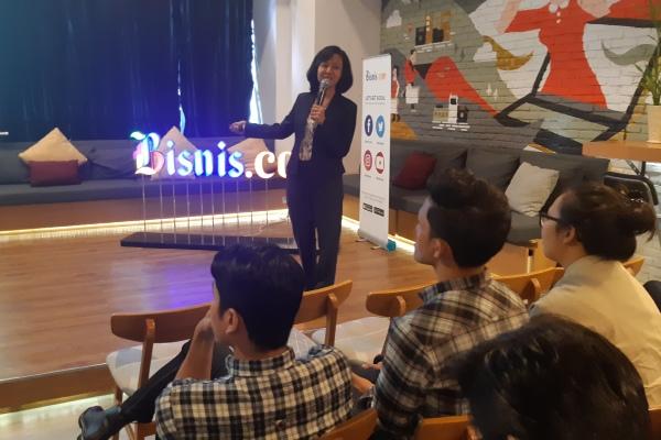 Bisnis.com menyelenggarakan edukasi investasi untuk milenial yang melibatkan komunitas BisnisCommunity, Sabtu (12/10/2019). - Bisnis/Nindya Aldila