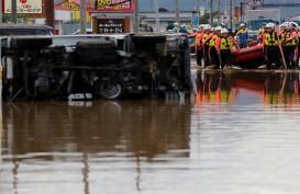 Topan Hagibis Tewaskan 33 Orang, 14 Sungai Meluap