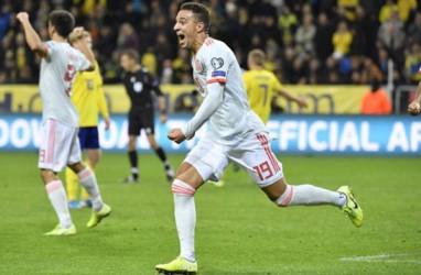 Hasil Kualifikasi Euro : Hampir Kalah, Spanyol Akhirnya Lolos ke Putaran Final (Video)