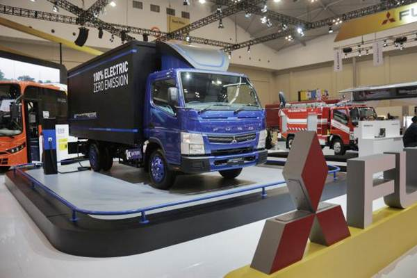 Salah satu truk produksi Mitsubishi Fuso. - JIBI