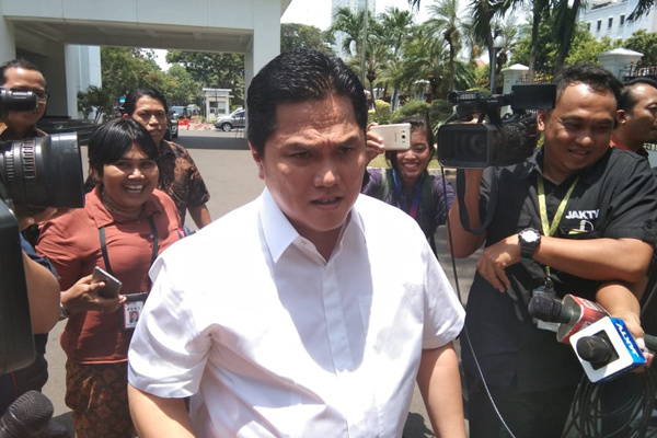 Erick Thohir dtiba di Istana Negara, Senin (21/10/2019). - Bisnis