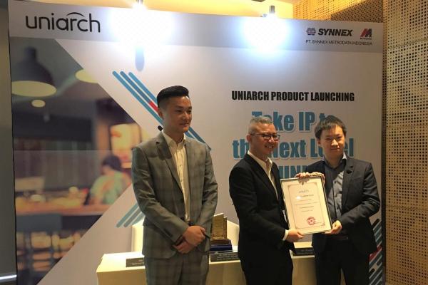 PT Synnex Metrodata Indonesia (SMI)salah satu entitas anak PT Metrodata Electronics Tbk., mengumumkan kemitraan strategik dengan perusahaan Zhejiang Uniview Technologies Co., Ltd (Uniview). - Istimewa