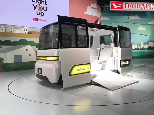 Salah satu mobil konsep Daihatsu IcoIco diperkenalkan dalam gelaran Tokyo Motor Show 2019. BISNIS - M. Abdi Amna