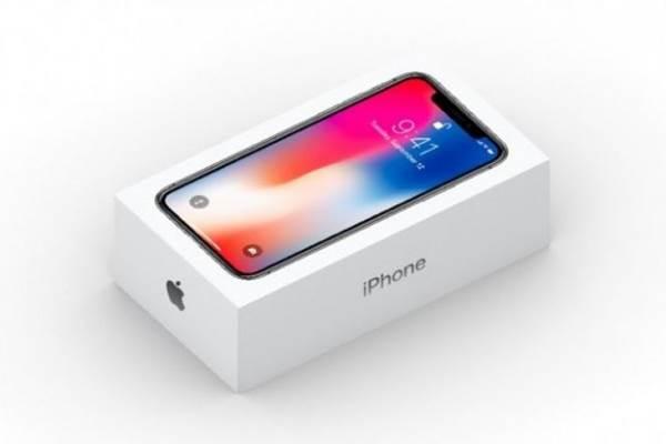 Kotak ritel iPhone X - apple.com