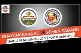 Bhayangkara FC vs Semen Padang 2-2, ini Videonya