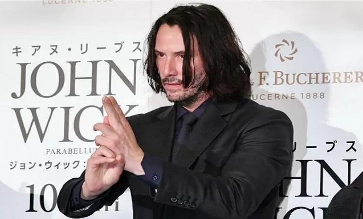 """Keanu Reeves menghadiri gala premier """"John Wick: Chapter 3 - Parabellum"""" di Jepang (10/9/2019) di Tokyo, Jepang. - Reuters"""