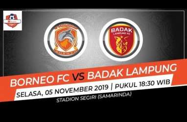 Badak Lampung Imbangi Borneo FC 1-1, Gusur Persija ke Posisi 15