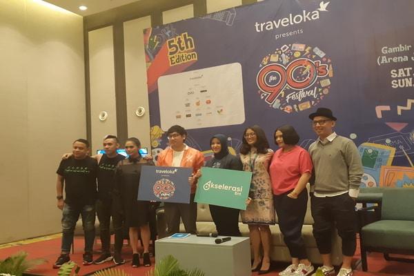 Press Conference The 90's Festival Edisi ke-5 di Harris Hotel, Jakarta Pusat pada Rabu (6/11/2019) - Bisnis.com - Ria Theresia Situmorang