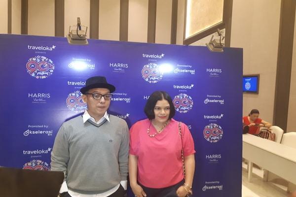 Anggota grup musik Tofu, Anton dan Fla di Harris Hotel, Harmoni, Jakarta Pusat pada Rabu (6/11/2019) - Bisnis.com - Ria Theresia Situmorang