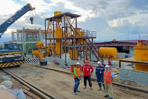 Fasilitas pengolahan bijih emas PT Bumi Resources Minerals Tbk. (BRMS). / Istimewa