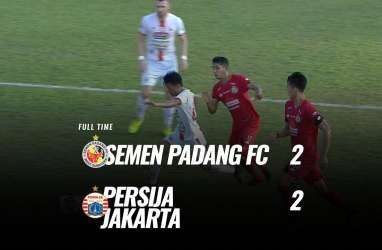 Persija Imbangi Semen Padang 2-2, Jauhi Zona Merah. Ini Videonya