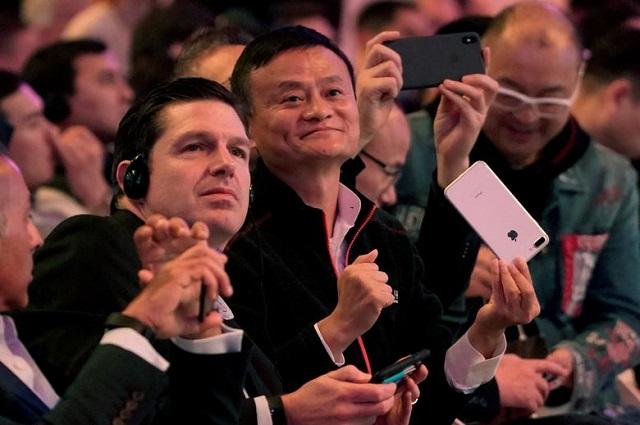 Pendiri Alibaba Jack Ma yang menghadiri festival belanja online 11.11 di Shanghai pada 11 November 2018.  -  Aly Song (Reuters)