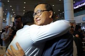 Pemimpin Oposisi Kamboja Sam Rainsy Tiba di Malaysia…