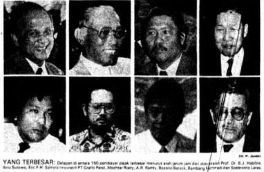 Historia Bisnis : Sudono Salim, William Soeryadjaya, Mochtar Riady, dan Para Pembayar Pajak Terbesar