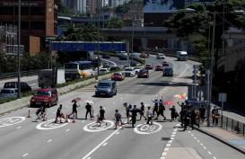 Unjuk Rasa di Hong Kong Lumpuhkan Distrik Keuangan Pusat