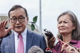 Eksil Politik Kamboja Sam Rainsy Tiba di Jakarta,…