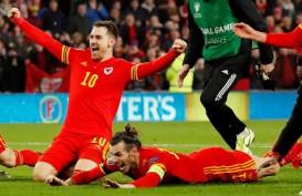 Dua Gol Aaron Ramsey Bawa Wales Lolos ke Putaran Final Euro 2020