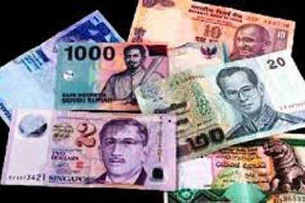 Mata uang Asia - ilustrasi