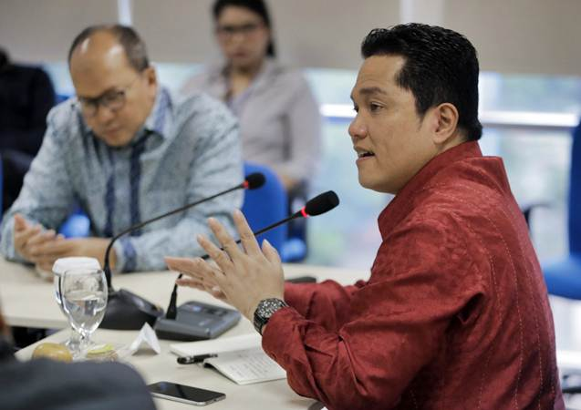 Komisaris Utama Mahaka Media Erick Thohir. - Bisnis/Felix Jody Kinarwan