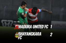Madura United Takluk 1-2 dari Bhayangkara FC, Tertahan di Posisi 4. Ini Videonya