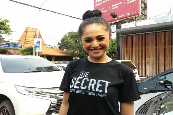 Marshanda saat peluncuran trailer the Secret - Nur Faizah al Bahriyatul Baqiroh