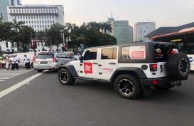 Mobil Mewah Bertuliskan Dukungan untuk Novel Baswedan di Acara Reuni 212