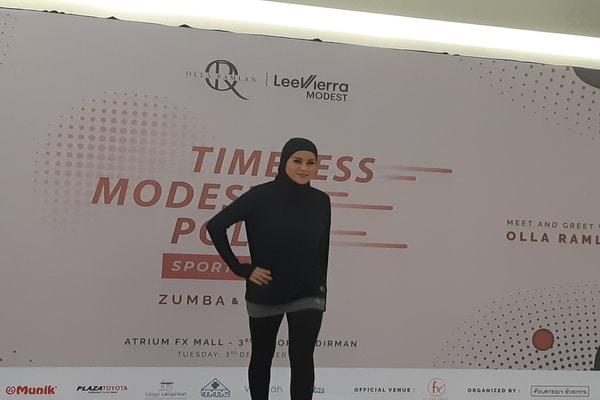 Artis Olla Ramlan di FX Sudirman, Jakarta Selatan pada Selasa (3/12/2019) - Bisnis.com - Ria Theresia Situmorang