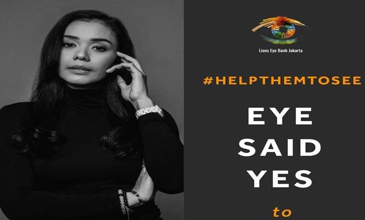 Adinia Wirasti duta kampanye Help Them To See - Istimewa