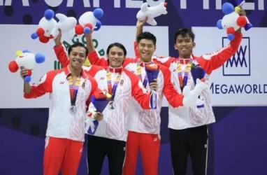 Perak 4 x 100 M Gaya Ganti Estafet Penutup Renang di Sea Games 2019