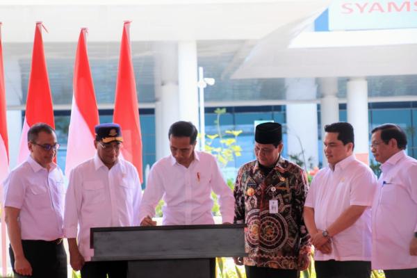 Presiden Joko Widodo meresmikan Bandara Syamsudin Noor di Banjarmasin, Kalimantan Selatan, Rabu (18/12/2019). - Istimewa