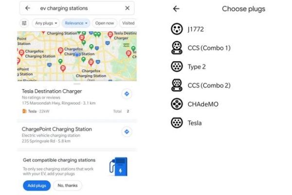 Fitur baru Google Maps, filter stasiun pengisian daya listrik