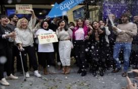 Warga Spanyol Rayakan Kemenangan Lotre El Gordo