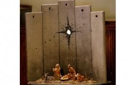 Seniman Inggris Hadirkan Karya Seni Ironi di Bethlehem