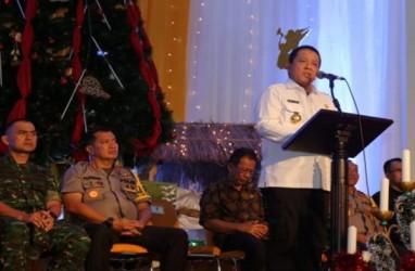 Gubernur Lampung Hadiri Natal di Markas Tentara