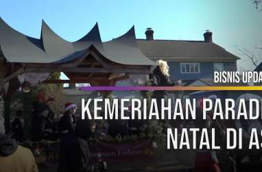 Rumah Adat Minangkabau Meriahkan Parade Natal di Amerika Serikat