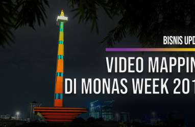 Liburan Akhir Tahun, Monas Gemerlap dengan Atraksi Video Mapping