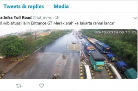 Gerbang Tol Merak Arah Jakarta Ramai, Hati-Hati Jalan…
