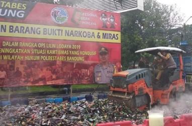Polisi Musnahkan Sabu, 843 Batang Ganja dan Belasan Ribu Miras Jelang Perayaan Tahun Baru
