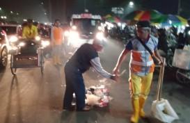 Sampah Pesta Malam Tahun Baru di Kota Malang 5 Ton