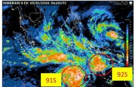 BMKG Deteksi Dua Bibit Siklon Tropis di Wilayah Selatan Indonesia
