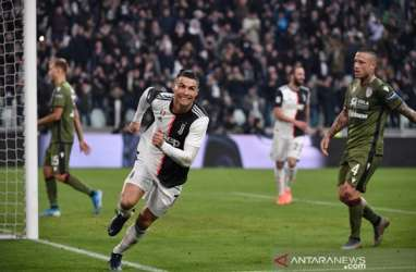 Ronaldo Cetak Hattrick, Atalanta Pesta Gol, Milan Ditahan Imbang