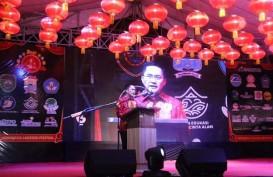 Ribuan Lampion Meriahkan Sriwijaya Lantern Festival