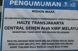 Pembangunan Underpass Senen Extension, Layanan Transjakarta di Halte Senen Sentral Searah