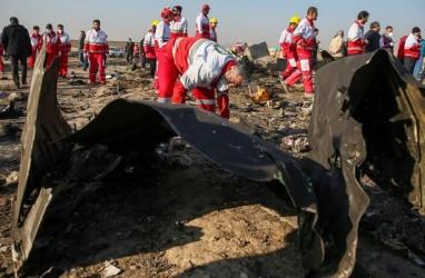 Kotak Hitam Pesawat Ukraina Ditembak Iran Dibawa ke Prancis
