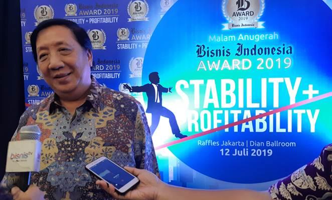Presiden Direktur PT Pakuwon Jati Tbk. (PWON) usai penganugerahan Bisnis Indonesia Award 2019 di Jakarta, Jumat (12/7/2019). - Bisnis/Mutiara Nabila