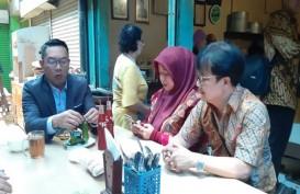 Gubernur Saja Makan Siang di Pasar Cihapit