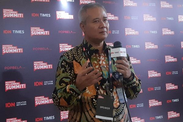 Direktur Utama PT Wijaya Karya (Persero) Tbk. Tumiyana dalam acara Indonesia Millenial Summit (IMS) 2020 di Jakarta, Jumat (17/1 - 2020)